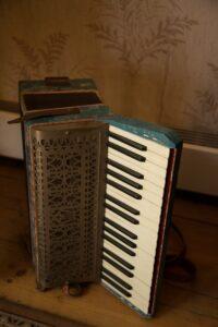 Old piano accordion